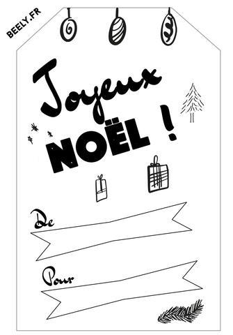 Etiquettes de Noël à imprimer gratuitement – Beely #etiquettesnoelaimprimer