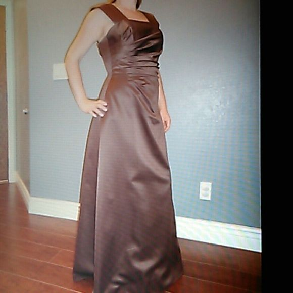 Prom dress Milk Chocolate silk brown dress. Straps can be easily ...