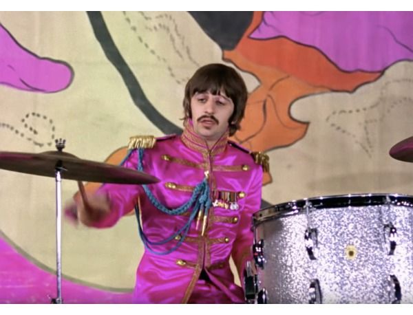 The Beatles Hello Goodbye Promo Video Drum Kit Ringo Starr S Custom Ludwig Silver Sparkle Drum Kit Used In The Ringo Starr Hello Goodbye Beatles The Beatles