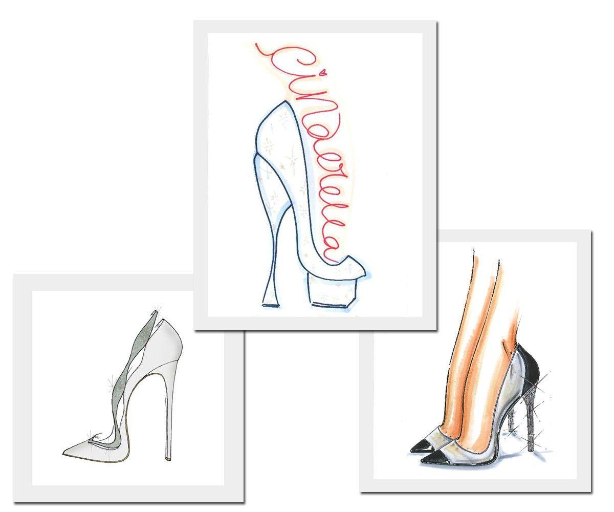 Mais modelos do acessório desejo, o Sapatinho de Cristal da Cinderela, por: Alexandre Birman, Charlotte Olympia e Salvatore Ferragamo