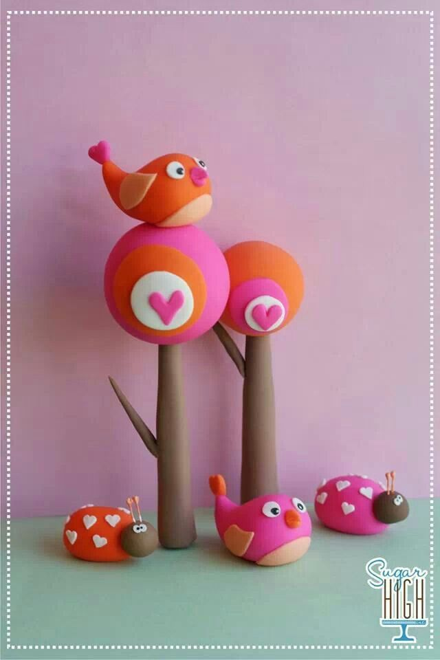 Bird Sugar Toppers