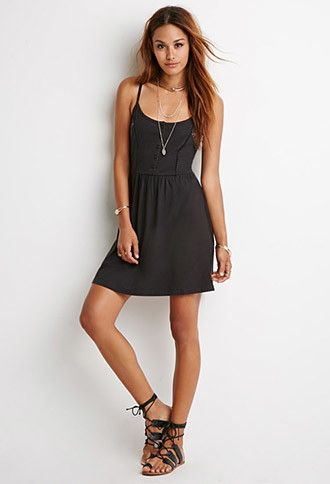 Lace-Paneled Cami Dress   Forever 21 - 2000131354