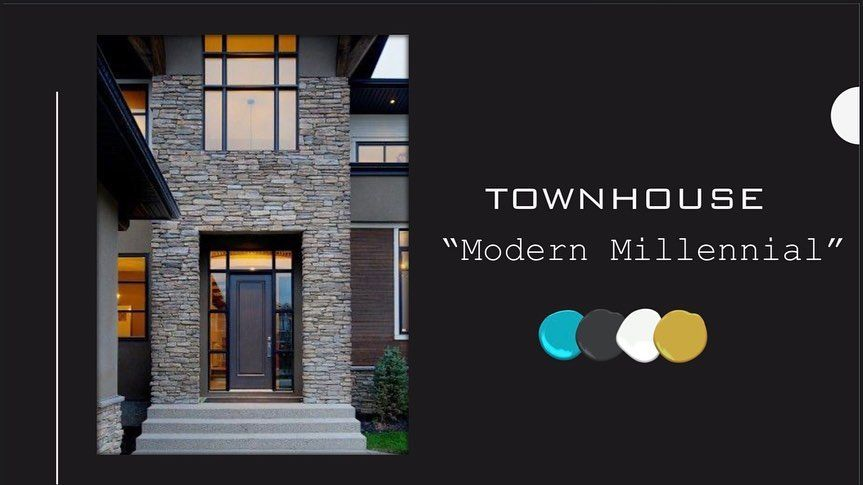 """Enjoyed working on this """"Modern Millennial """" Townhouse concept! Loved combining all my favorite colors to convey the design of the living and dining space! I just want to live in this presentation! It fills me with so much joy! I really enjoy what I do and getting the reactions I hope for when presenting to my clients 😀 • • • #housegoals #interiordesire #houseenvy #instahomedecor #interiordesigntips #interiordesigner #interiordesignlife #interiordesignstudio #tuesdaythoughts #austintx #design #"""