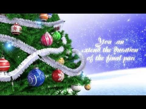 Christmas Tree After Effects Template Christmas Bulbs Christmas Christmas Ornaments