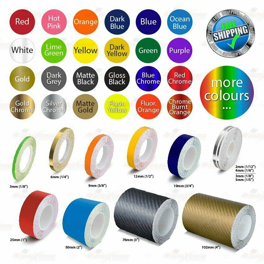 Roll Pin Stripe Car Pinstriping Body Decoration Line Tape Decal Vinyl Stickers Ebay Car Pinstriping Vinyl Sticker Pinstriping