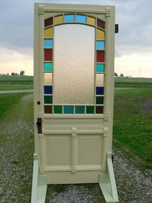 Gorgeous Old Door With Stained Glass Vintage Stained Glass