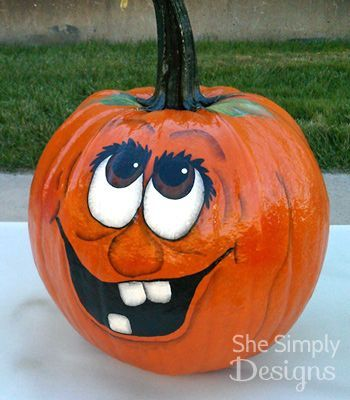 Halloween Pumpkin Faces | She Simply Designs | Pumpkins ...
