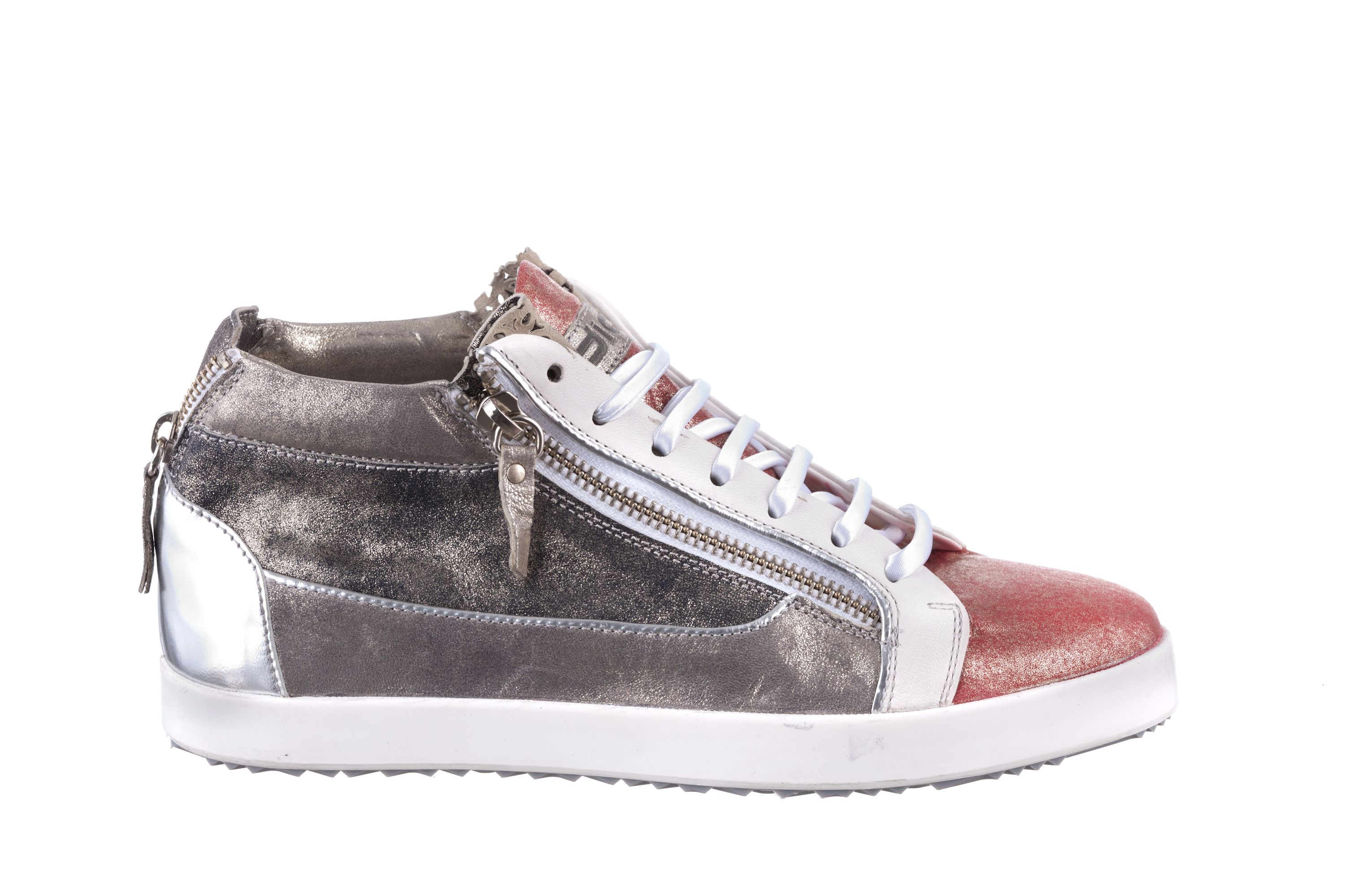 e3dee82c1e9f SNEAKER METALLIC BRUSHED LEATHER WITH ZIP AND LACES  Corvari sneakers  ss2014 shoesofthemonth