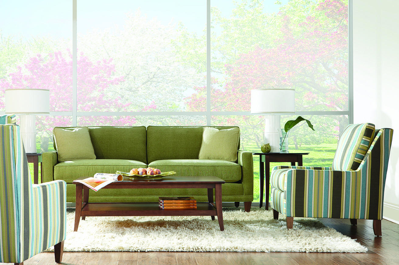 Rowe Townsend Sofa In Soft Microfiber, Trendy, Fashion