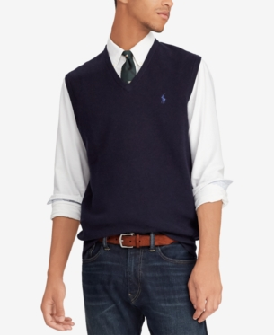 Vest Ralph 2019Products Neck In Polo Men's Sweater V Cotton HIWD2E9