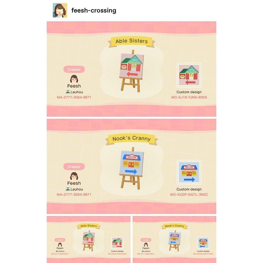 Ac New Horizons Custom Designs On Instagram Shop Signs