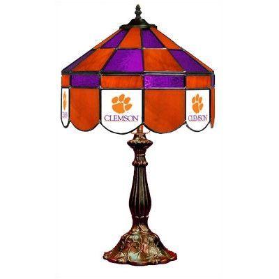 "Wave 7 NCAA Wide 22"" Table Lamp Style: Executive, NCAA Team: Clemson"