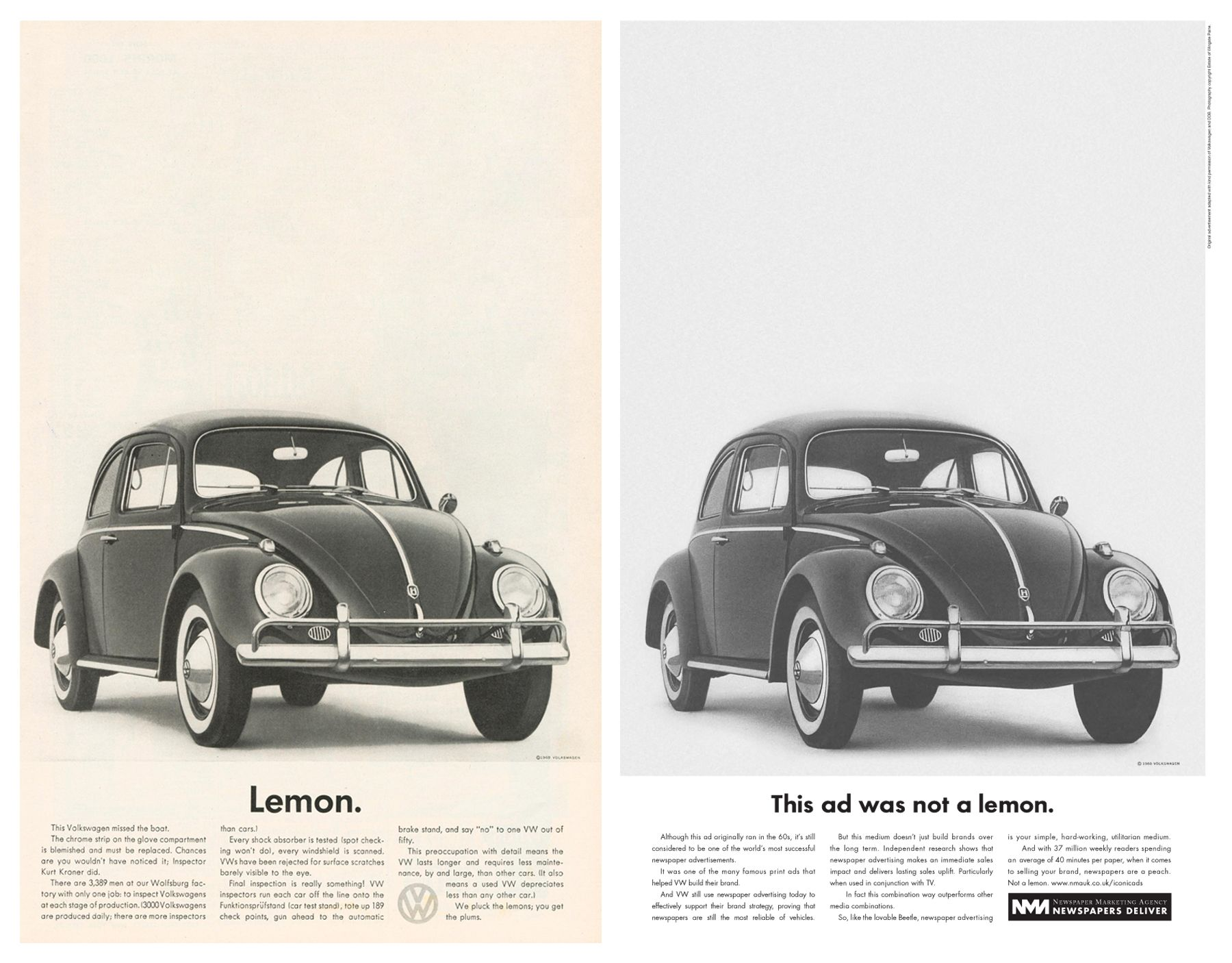 Classic VW Lemon Campaign | Classic Advertising | Pinterest ...
