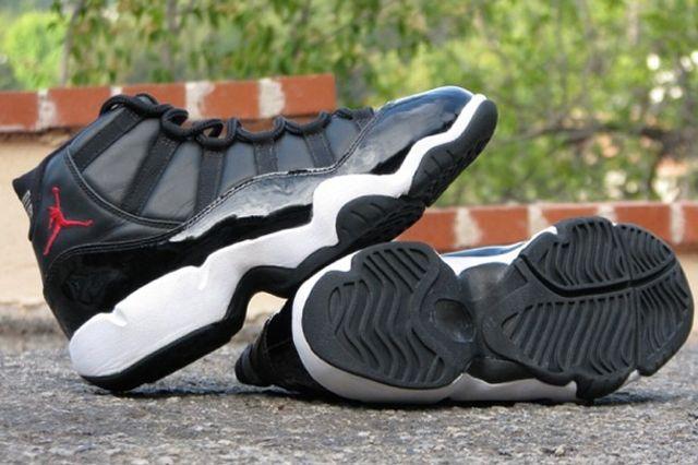 "Air Jordan 11 (XI) ""Black Leather"