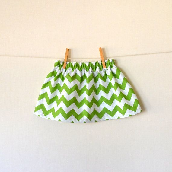 St Patrick's Day Chevron Skirt  Green and White  by CorinneCitrolo on Etsy.