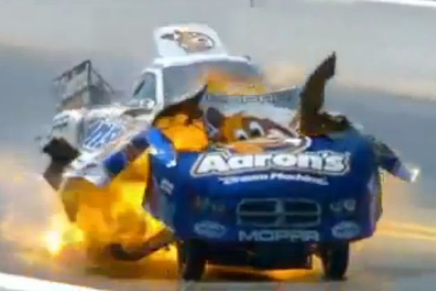 Explosion Rips Funny Car Car Humor Don Schumacher Racing Racing
