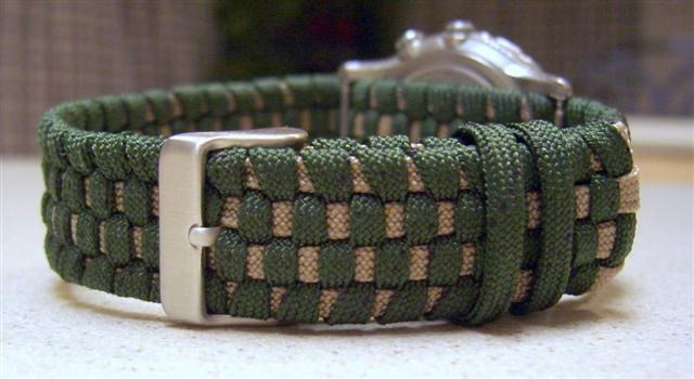 Two Toned Adjustable Paracord Watchband Paracord Watch Watch
