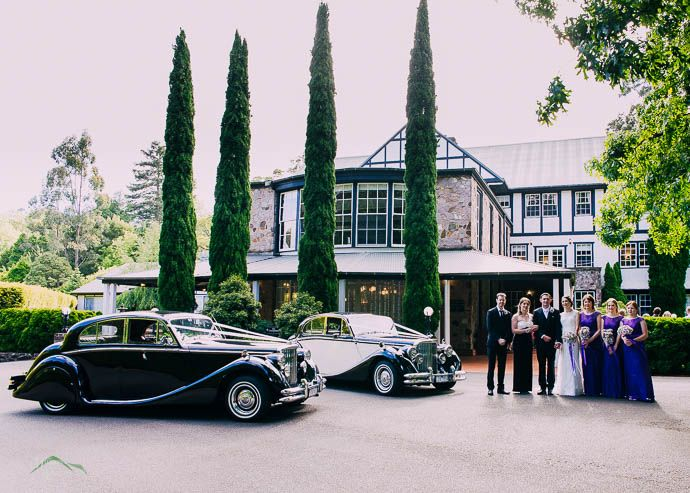 Bridal Party With Cars Out The Front Of Marybrooke Manor, Sherbrooke