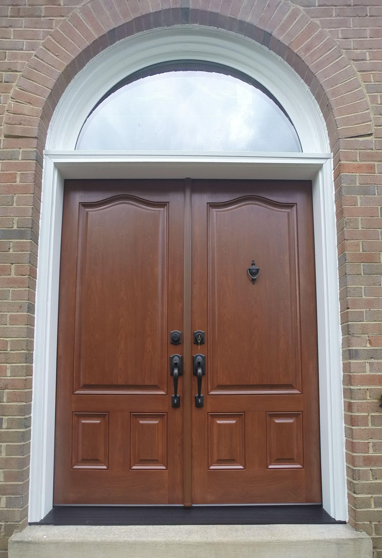 Provia Signet Fiberglass French Entry Door System With Custom Half