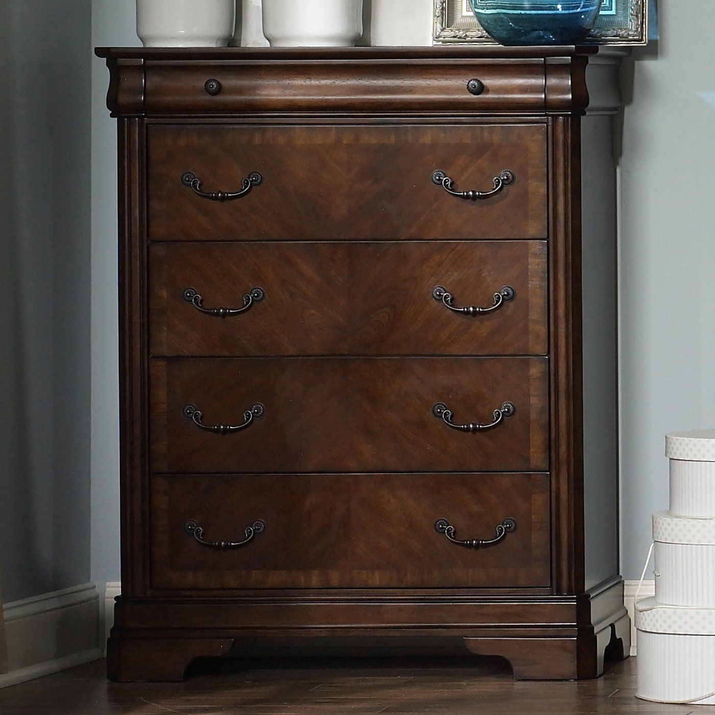Liberty furniture br alexandria five drawer chest autumn