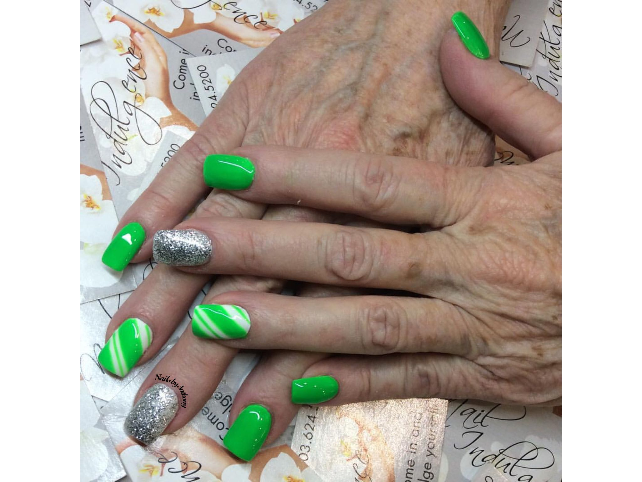 Gift wrap. Nails by Anthony | Nails By Anthony | Pinterest