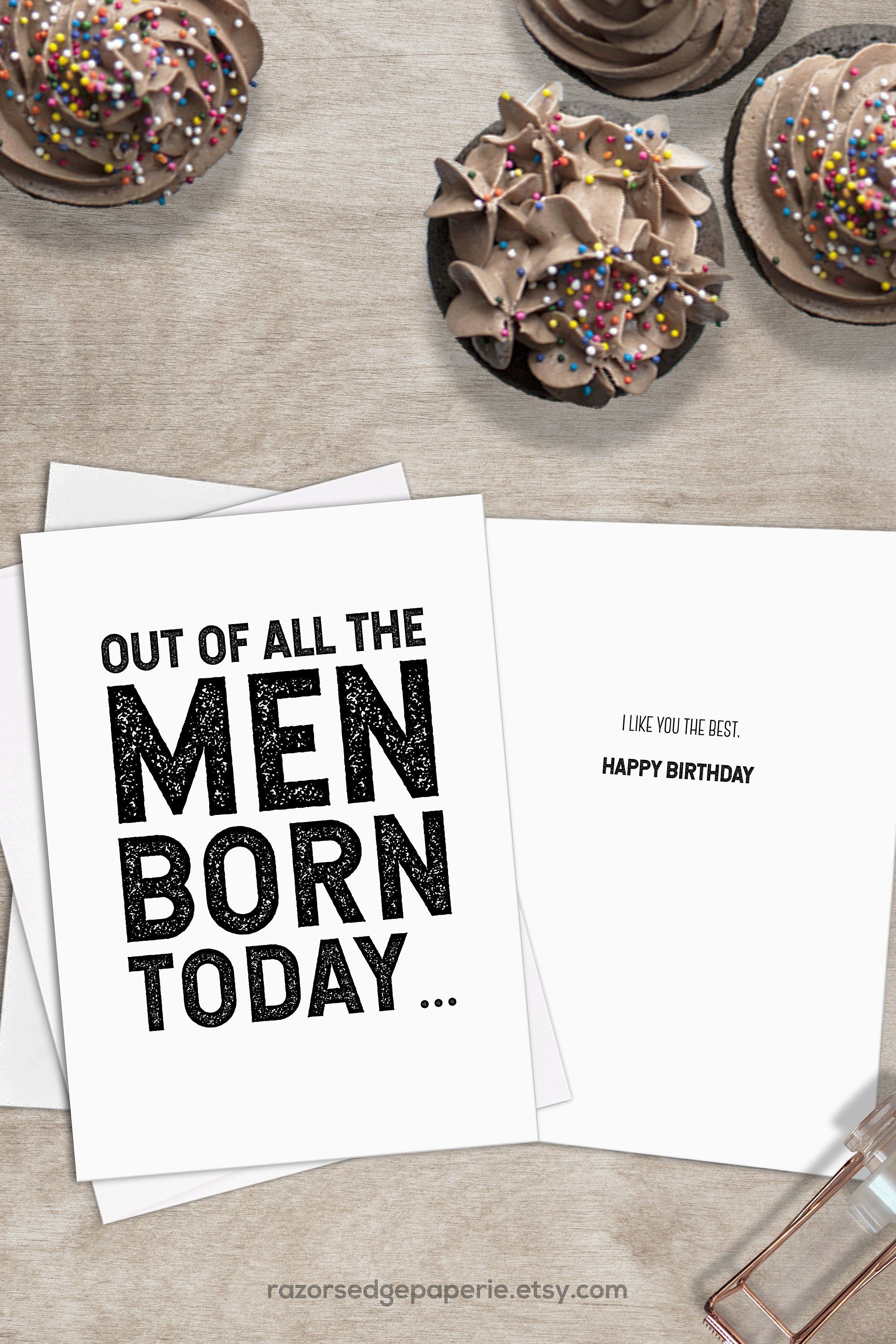 Excited To Share The Latest Addition My Etsy Shop PRINTABLE Funny Birthday Card INSTANT DOWNLOAD With FREE Envelope Template