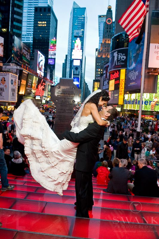Time Square Wedding Shot