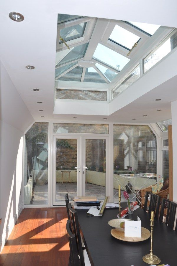 Recessed Lights And Roof Lantern As Tiny Home Roof Roof
