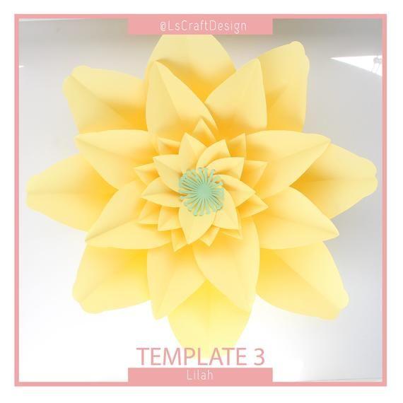 Paper Flower Template, PDF Paper Flower, DIY Paper Flower, Giant Paper Flower Templates, Base and Instruction Including #giantpaperflowers