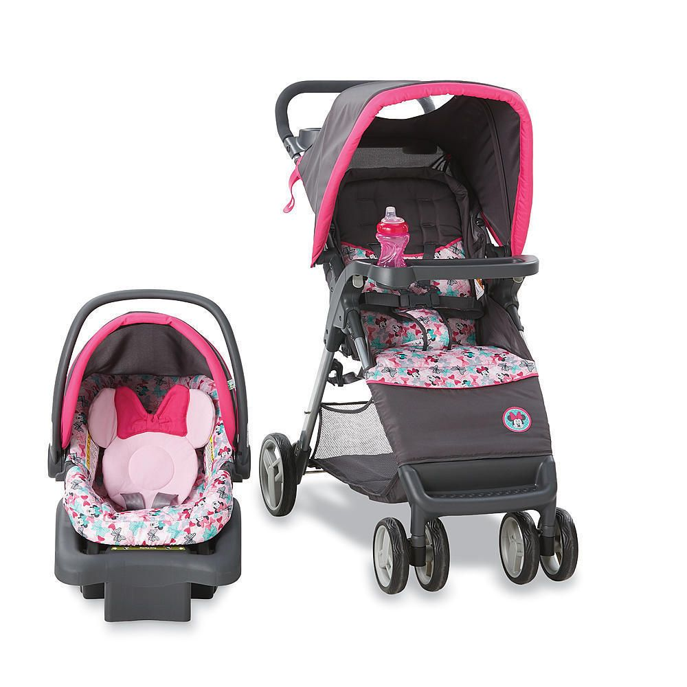 Disney Minnie Mouse Baby Gear Bundle,Travel System,Play