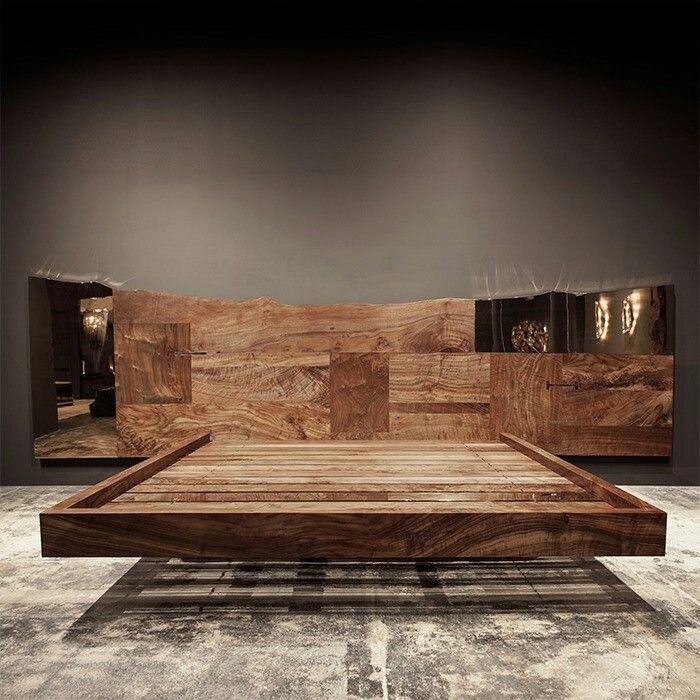 recamaras de madera | bed frame | Pinterest | Recamaras de madera ...