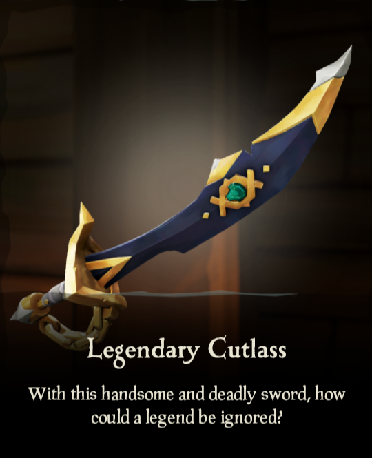 Legendary Cutlass Legendary Cutlass Sea Of Thieves Wiki In 2020 Sea Of Thieves Pet Clothes Wild Cats