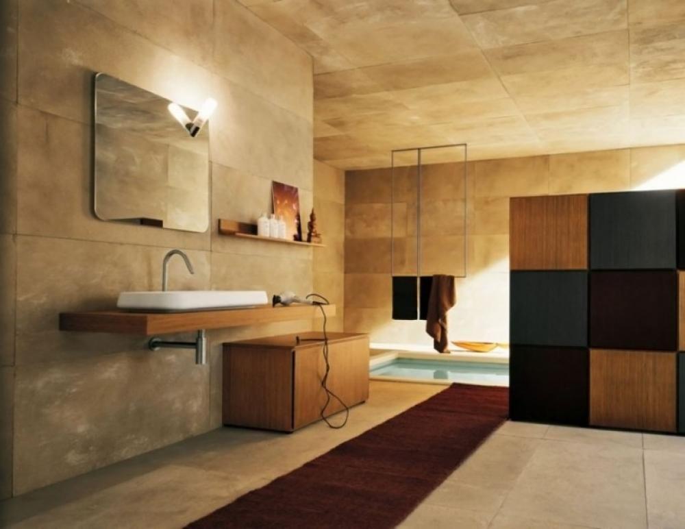 Classic Bathroom Design With Warm Lighting Ideas Elegant Bathroom ...