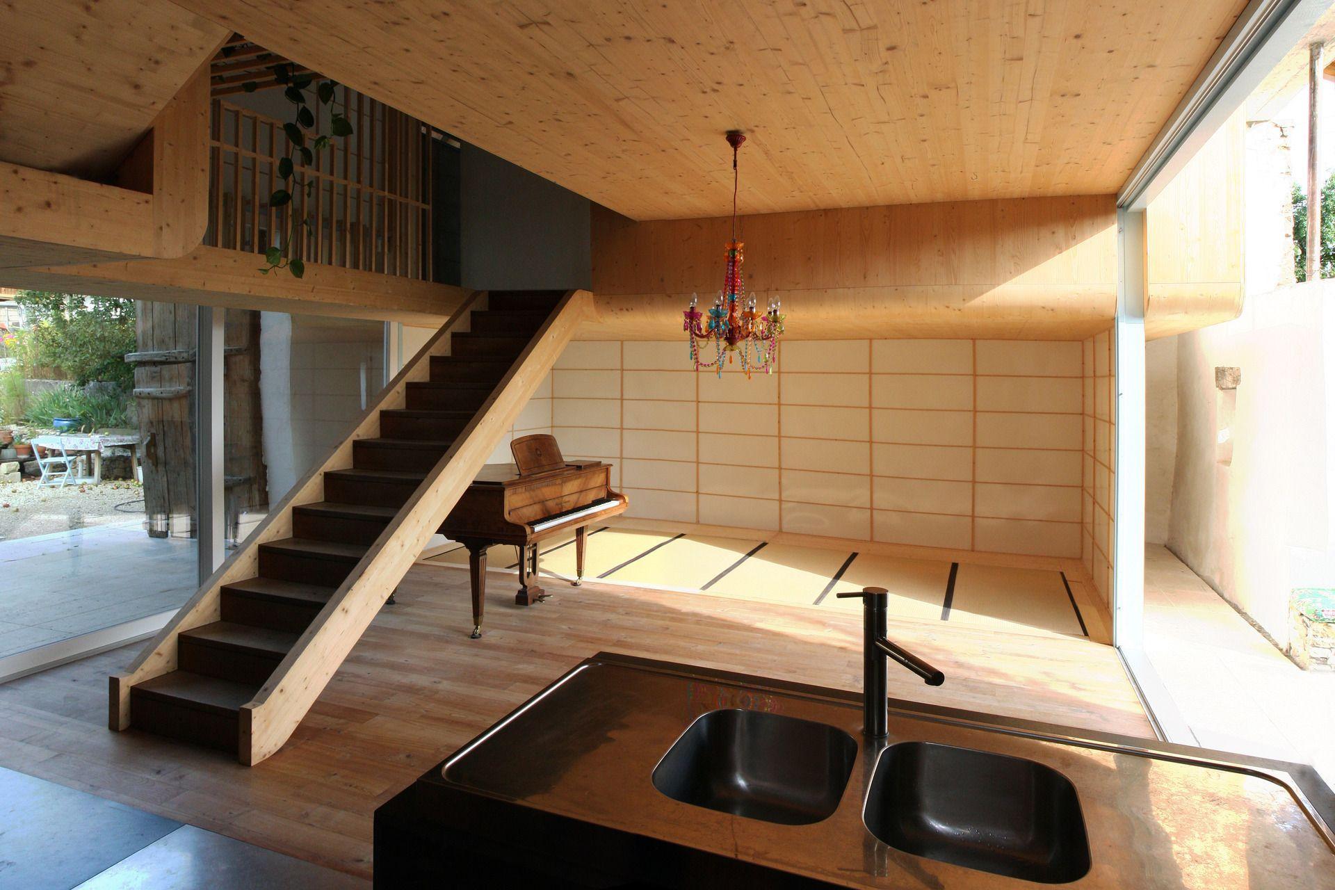 Asiatische Architektur mit Faltwerktreppe | Häuser | Pinterest ...