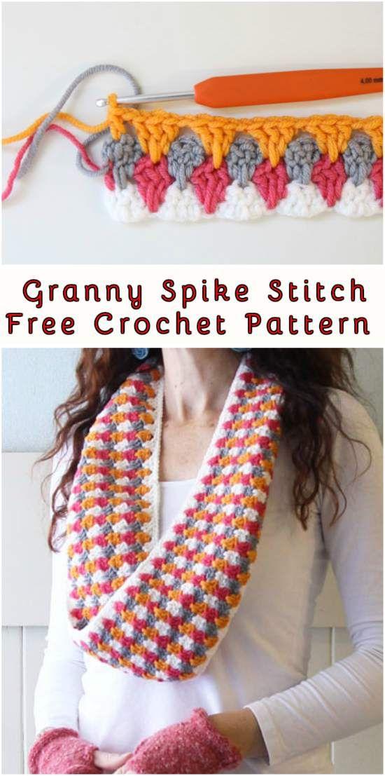Granny Crochet Spike Stitch Free Pattern Cuttings And Crochet