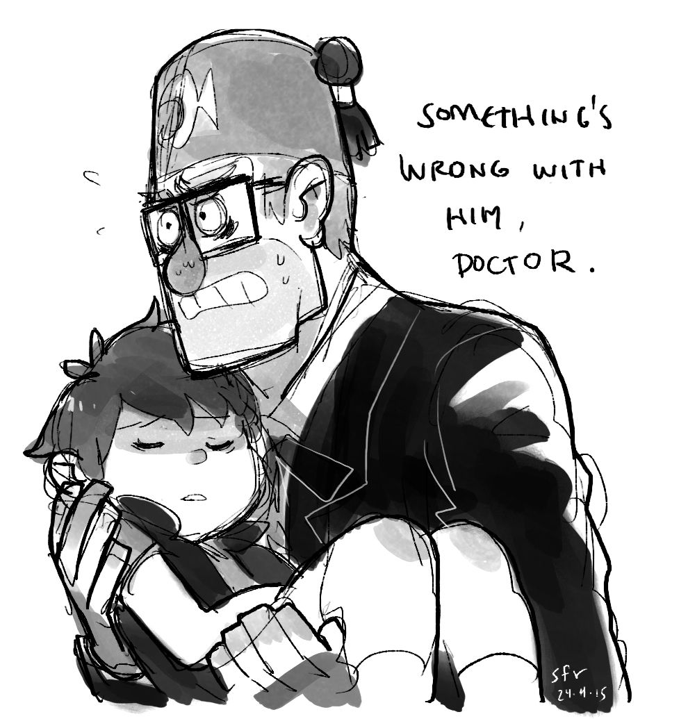 Dipper falling grievously sick and Stan panicking and