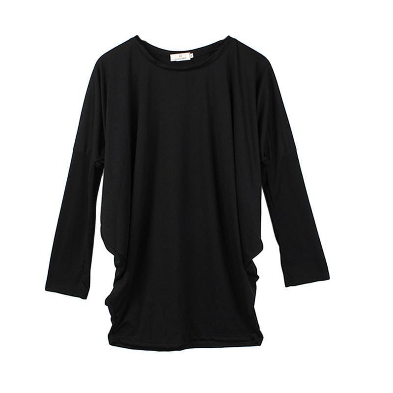 4787700e208ac ZANZEA Oversized Women Solid Casual Long Blouse 2017 Spring O neck Batwing Sleeve  Loose Shirt Dress