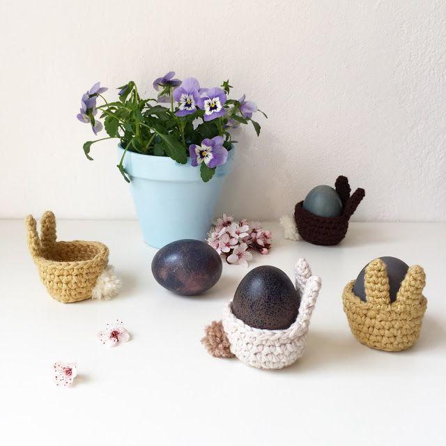 Photo of Eine supersüße Häkelanleitung für Osterhasen Eierbecher