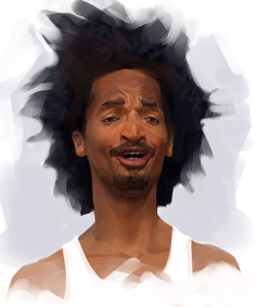 Artist alexander ovchinnikov figurative illustrator male head african american black man face portrait