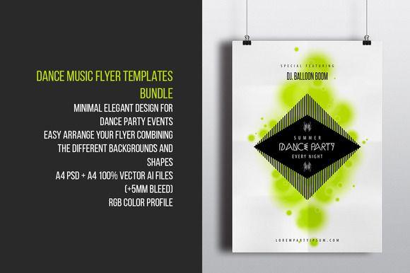 Dance Music Flyer Templates Bundle  Music Flyer Flyer Template