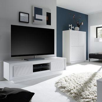 Renouvelez Votre Salon Avec Un Superbe Meuble Design Blanc Laque Des Milliers De Meubles Pour Votre Salon Sejour D Meuble Tv Design Meuble Tv Petit Meuble Tv