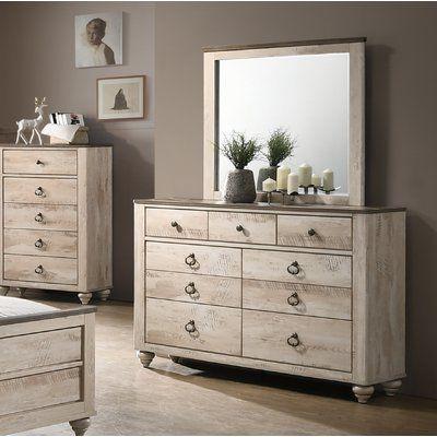 Greyleigh Pliner 9 Drawer Double Dresser With Mirror In 2020