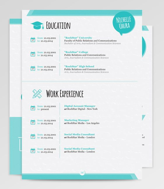 Cool Resume Templates Berenices Resume Template  Rockstarcv  Resumes  Pinterest