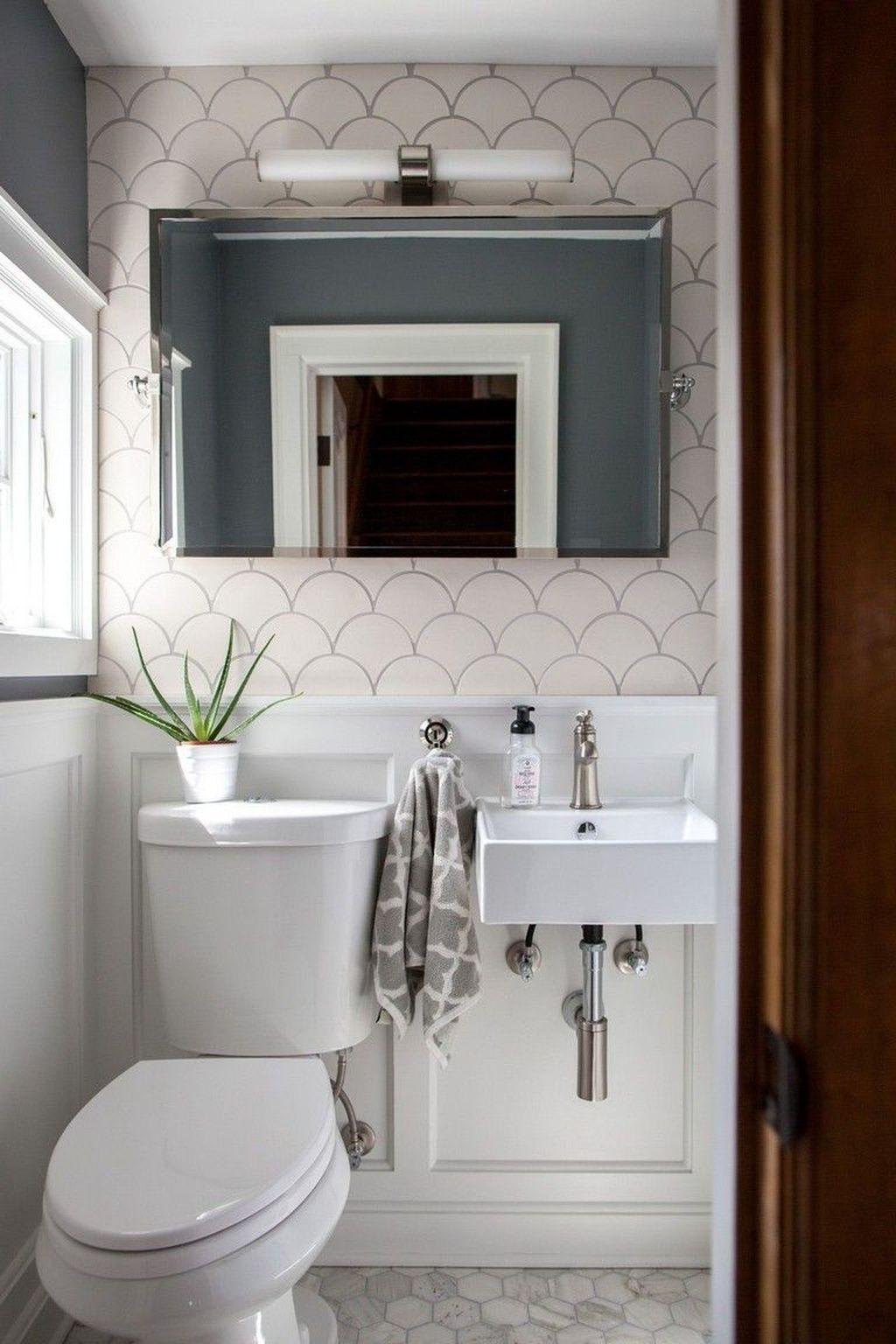 20 Beautiful Half Bathroom Remodel Cost Ideas And Galleries In 2020 Powder Room Small Tiny Powder Rooms Half Bathroom Remodel