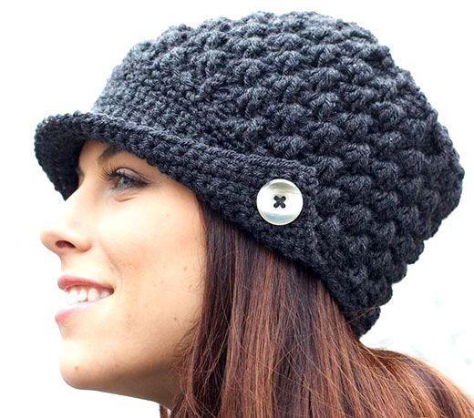 Схемы вязания шапок крючком для женщин