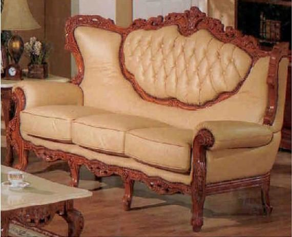 Victorian Style Leather Sofa  How Awesome! Good Looking