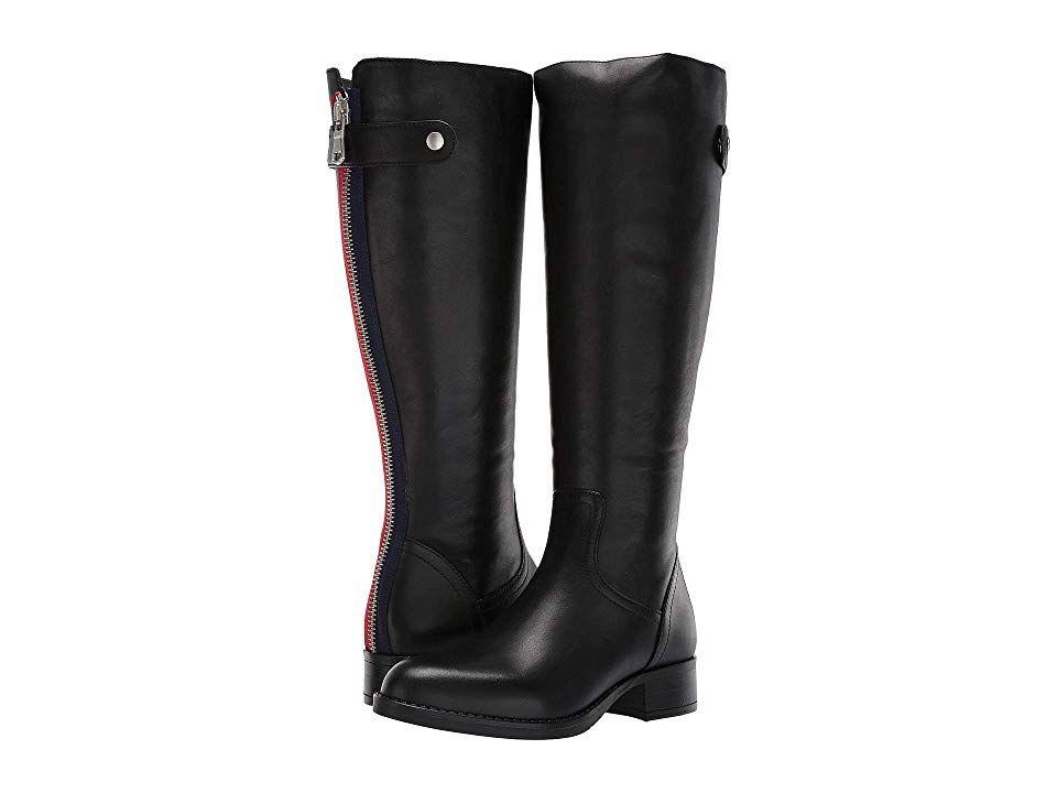 7b11e8f76ef Steve Madden Journal Riding Boots (Black Leather) Women's Pull-on ...