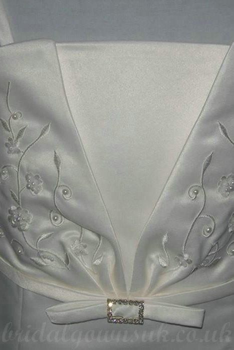 Satin A Line Spaghetti Embroidery Floor Length Perfect Customzied Girl In Dress