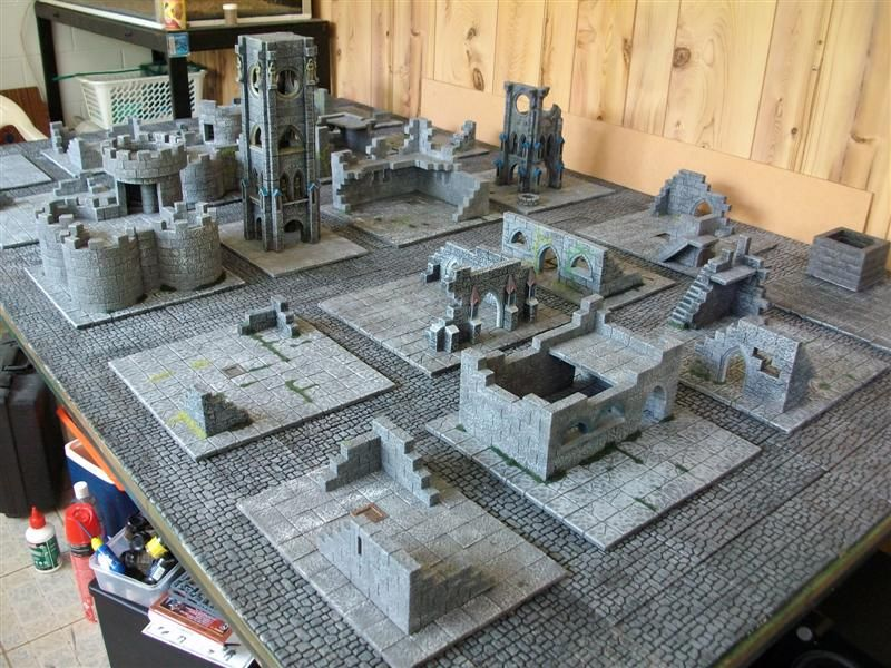 40k modular ruined town table in Post your own pictures