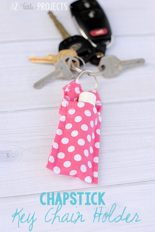 Easy Keychain Chapstick Holder Pattern - Crazy Little Projects